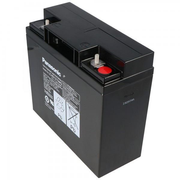 Panasonic LC-XD1217APG Blei Akku PB 12 Volt 17000 mAh, M5 Schraubanschluss