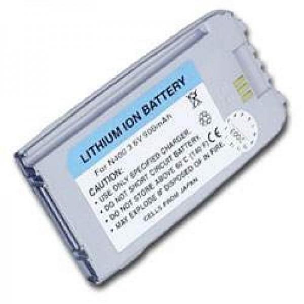 AccuCell Akku passend für Samsung SGH N400, perlmutt-Silber