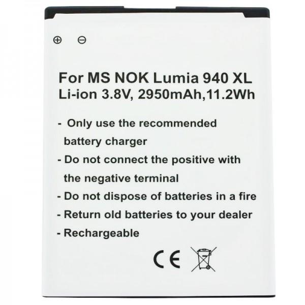 Akku passend für Microsoft Lumia 950 XL, Lumia 950 XL Dual SIM Akku BV-T4D