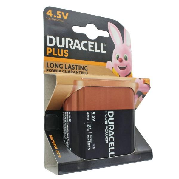 DURACELL Plus 4,5 Volt MN1203 3LR12 Flachbatterie 1er Pack, 62x22x67mm