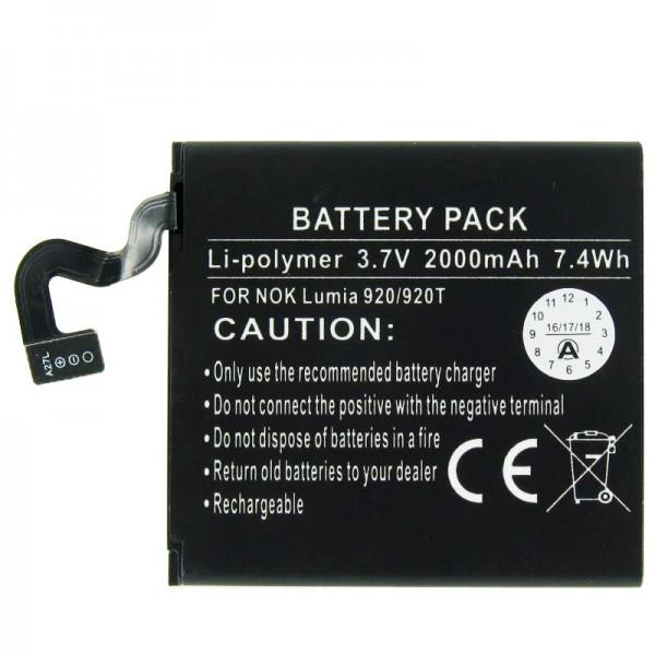 BP-4GW Nachbau Akku passend für Nokia Lumia 920 Akku Typ BP-4GW