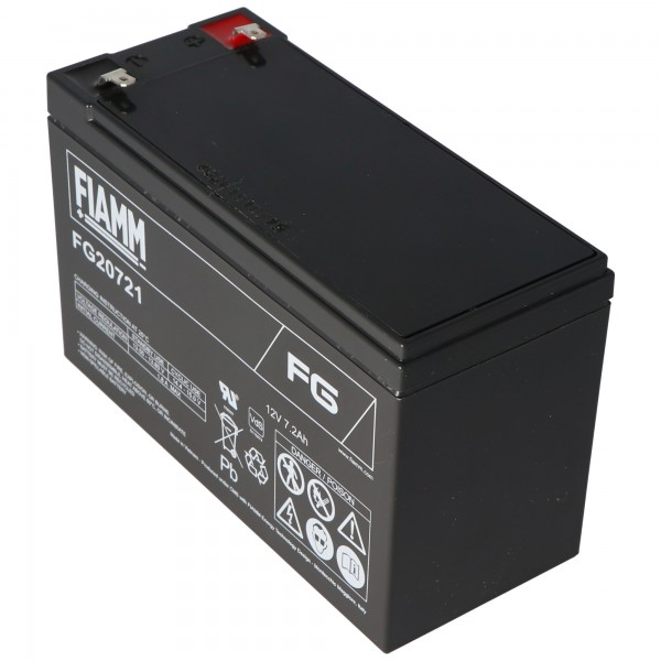 Fiamm FG20721 Akku 12 Volt, 7,2Ah mit 4,8mm Steckkontakte