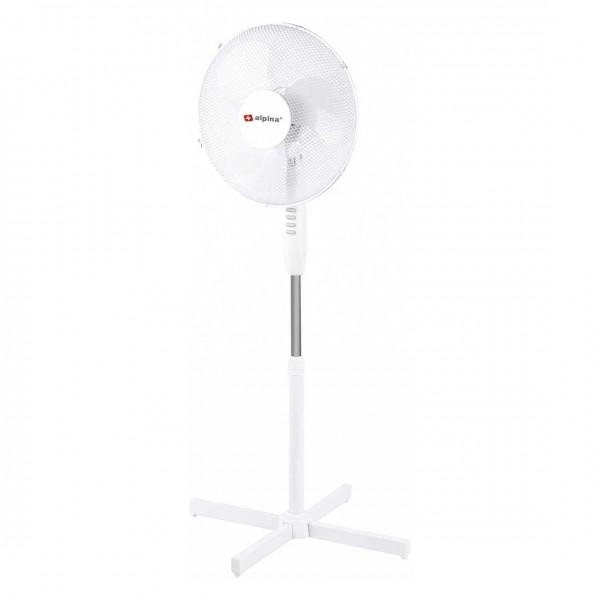 Standventilator kippsicher, verstellbar mit 3 Geschwindigkeitsstufen, 42W weiß inkl. Überhitzungsschutz