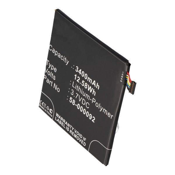 Akku passend für Amazon Kindle Fire HD 6, ST06, 26S1006, 58-000092 3,7 Volt 3400mAh