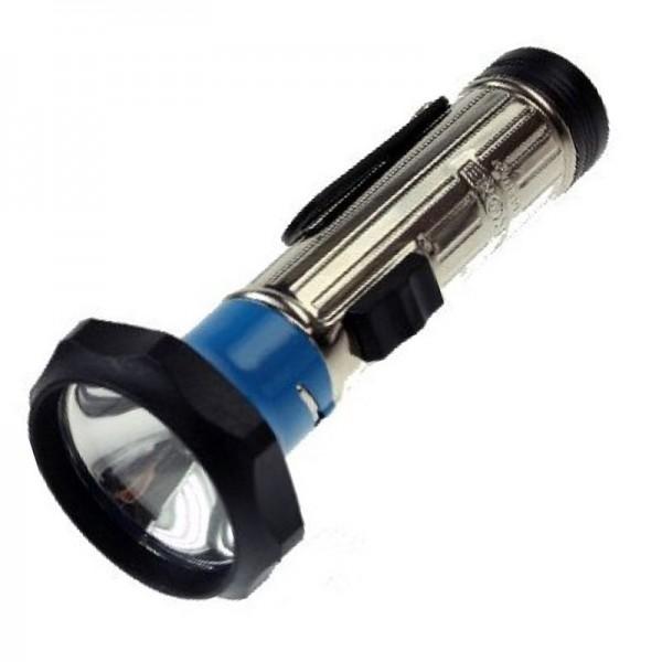 klassische Metall Stabtaschenlampe 149 x 60mm mit Glühbirne, für 2 Stück Baby LR14 Batterien, farblich sortiert