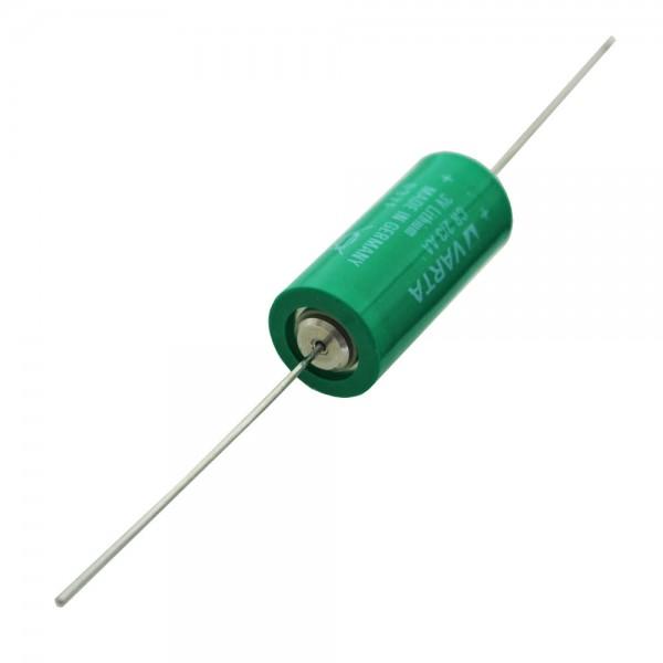 Varta CR2/3AA Lithium Batterie, Varta 6237 mit Axialem Drahtans