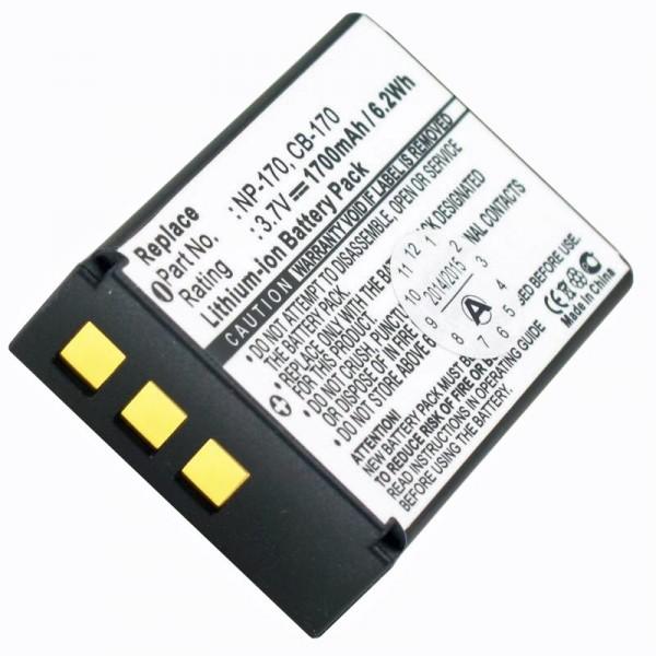 AccuCell Akku passend für Aiptek CB-170, Sony NP-170, 084-07042L-062