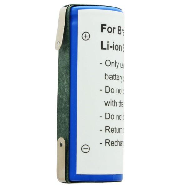Akku passend für Braun 5671, 5673, Philips Nerelco 8892XL 3,7 Volt 1600mAh, 50 x 18.50 x 18.20mm