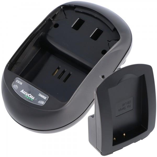 AccuCell Ladegerät passend für Sanyo DB-L40 Akku, Xacti DMX-HD1