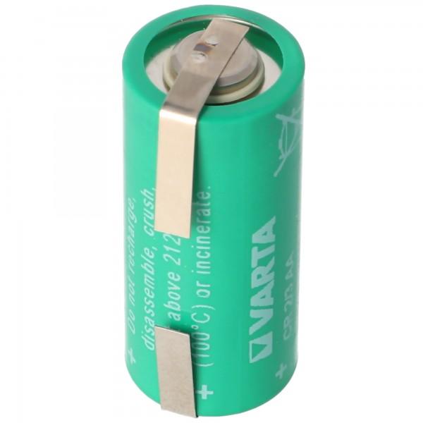 Varta CR2/3AA Lithium Batterie, Varta 6237 mit Lötfahne U-Form, 6237301301