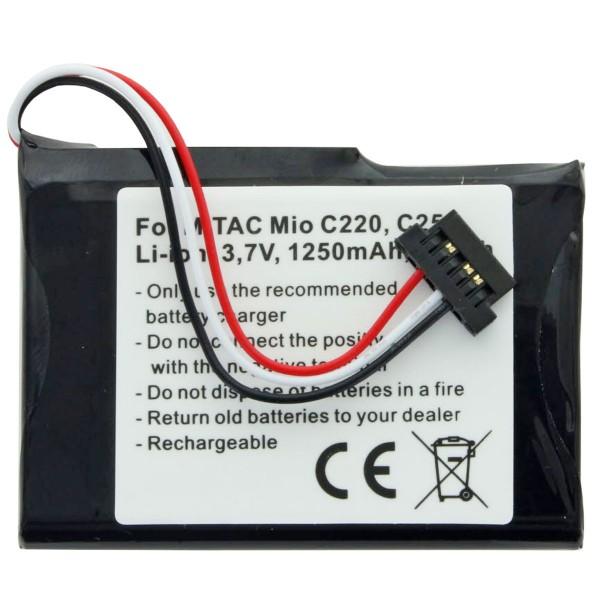 AccuCell Akku passend für Mitac Mio C220, C230, C250, PNA3040