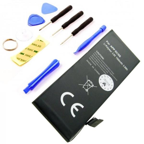 Akku passend für Apple iPhone 5C Li-Polymer 616-0667 Akku, 616-0720 Akku mit Werkzeug