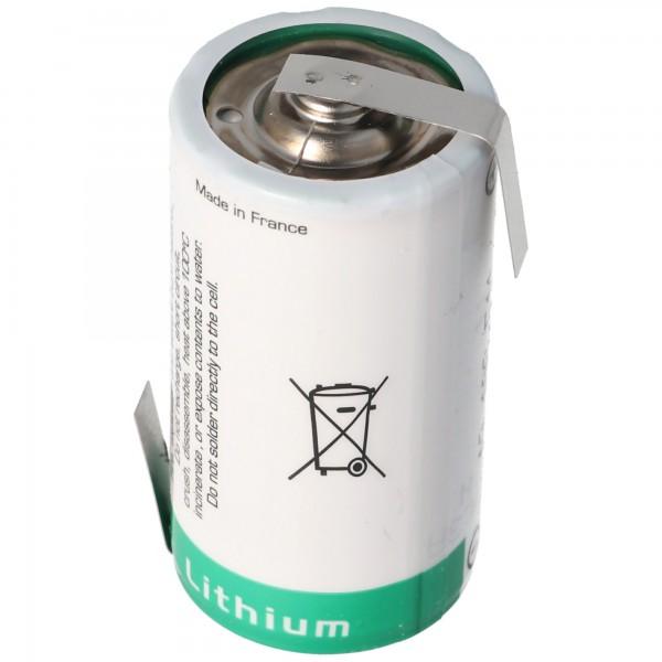 SAFT LS26500 Lithium Batterie Li-SOCI2, C-Size mit Lötfahne Z-Form