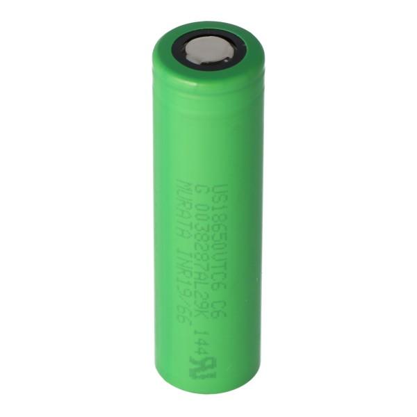 Sony Konion US18650VTC6 Akku 65,2x46,7mm für E-Zigarette und E-Shisha 3,6 Volt min. 3000mAh typ. 3120mAh maximal 30A Stromabgabe