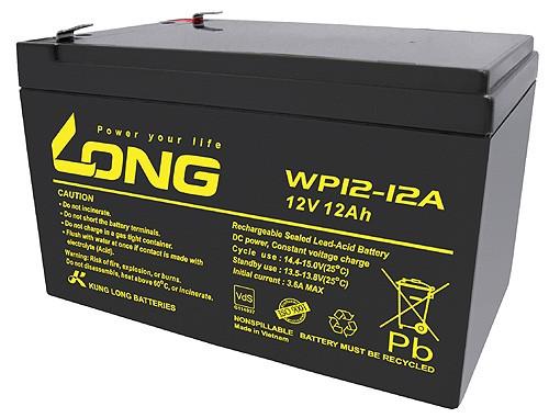 Kung Long WP12-12, 12Volt, 12Ah VDS G100036, Faston 6,3mm