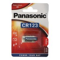 CR123A Panasonic Batterie Photo Lithium CR123