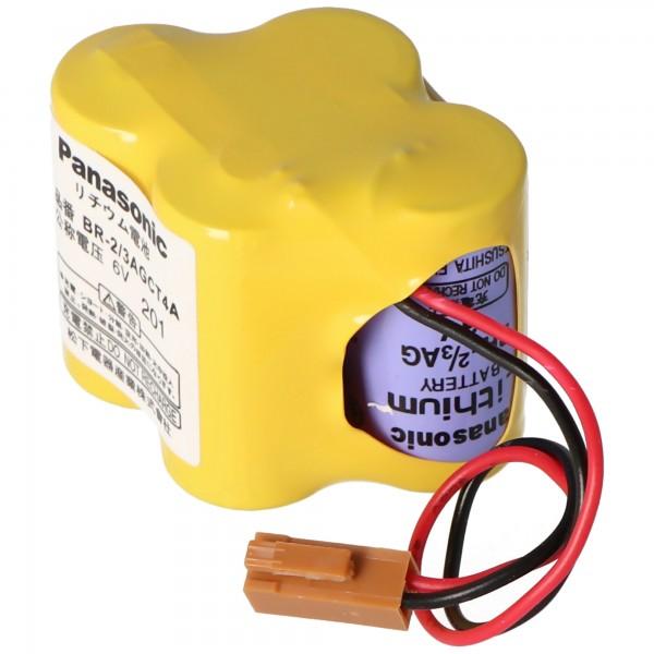 Panasonic Lithium Batterie max. 2900mAh CNC BR-2/3AGCT4A, Fanuc A98L-0031-0025, BR-2/3AG