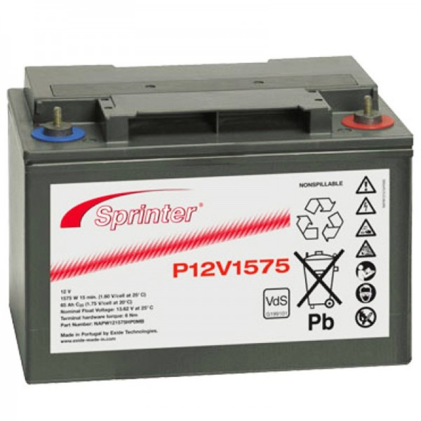 Exide Sprinter P12V1575 12 Volt 61 Ah M6 Anschluss VDS G191001