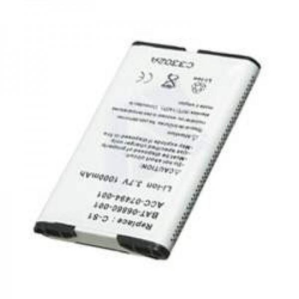 AccuCell Akku passend für RIM Blackberry 8707, 1000mAh