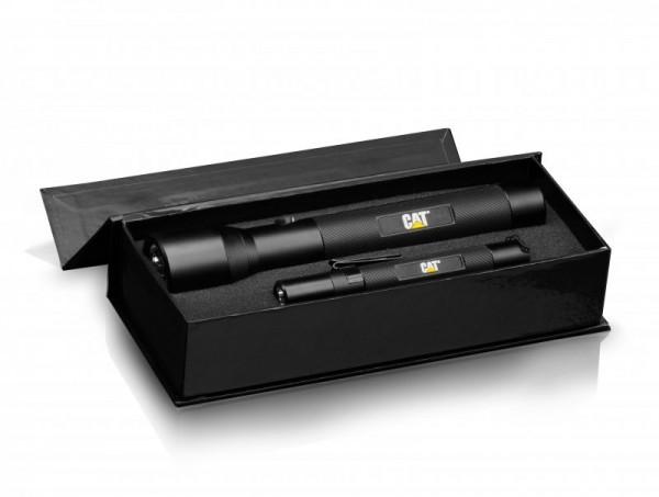 CAT CT123552P 2er Set LED Taschenlampen mit 3W Cree LED in Geschenkbox
