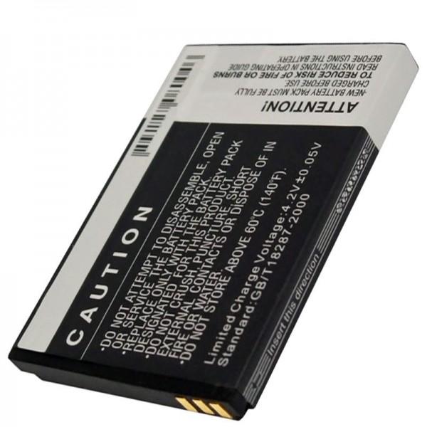 Bea-Fon S10 Akku, Nachbau Akku mit 1000mAh Kapazität von AccuCell