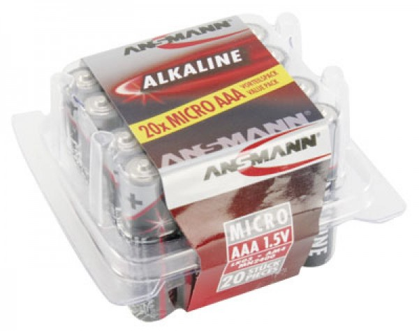 Ansmann RED Alkaline Micro / LR03 20er Pack
