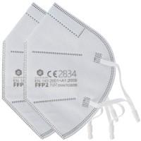 2 Stück FFP2 Maske 5-Lagig ohne Ventil, zertifiziert nach DIN EN149:2001+A1:2009, partikelfiltrierende Halbmaske, FFP2 Schutzmaske