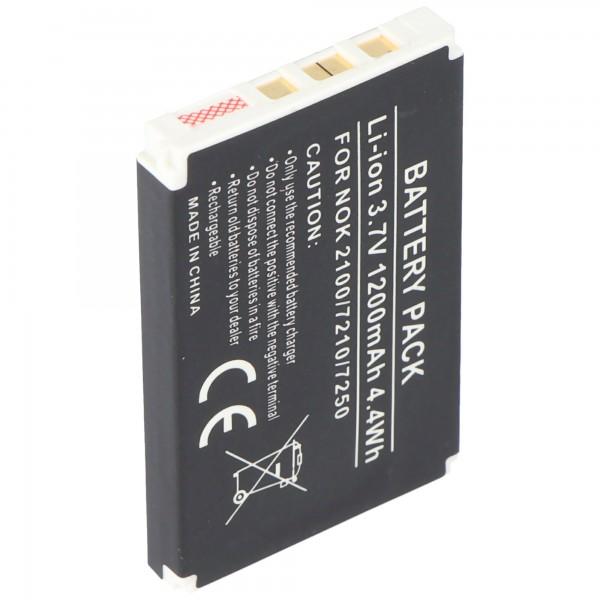 Nachbaukku passend für Nokia 6610 Akku BLD-3 1200mAh Abmessungen 53,3 x 33,6 x 6,5