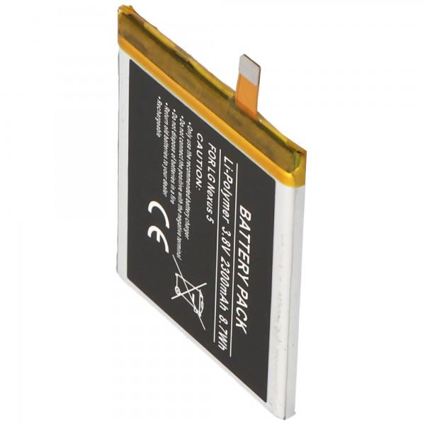 Akku passend für LG Nexus 5, BL-T9, LG D820, D821 2300mAh Li-Polymer Akku