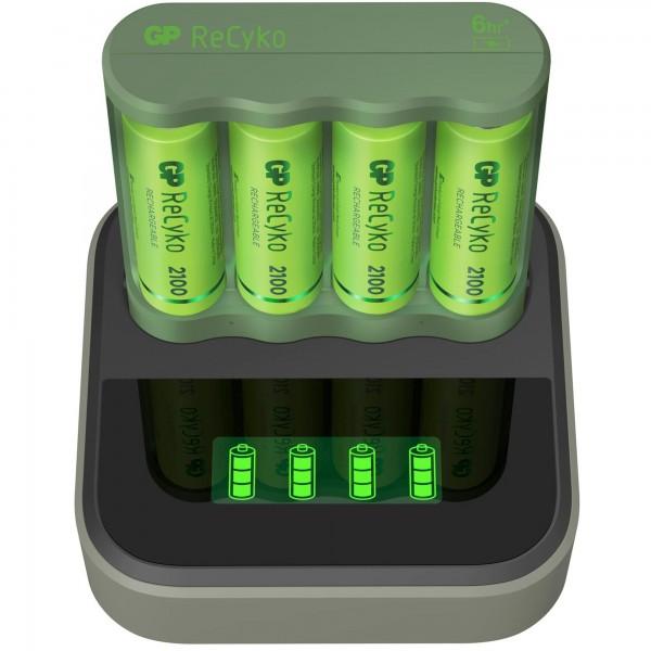 USB-Modell Ladegerät GP B421 Basic-Line 4 x ReCyko AA 2100 mAh USB Dockingstation