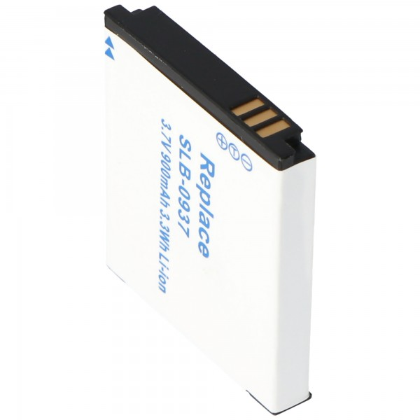 AccuCell Akku passend für Samsung SLB-0937, 900mAh