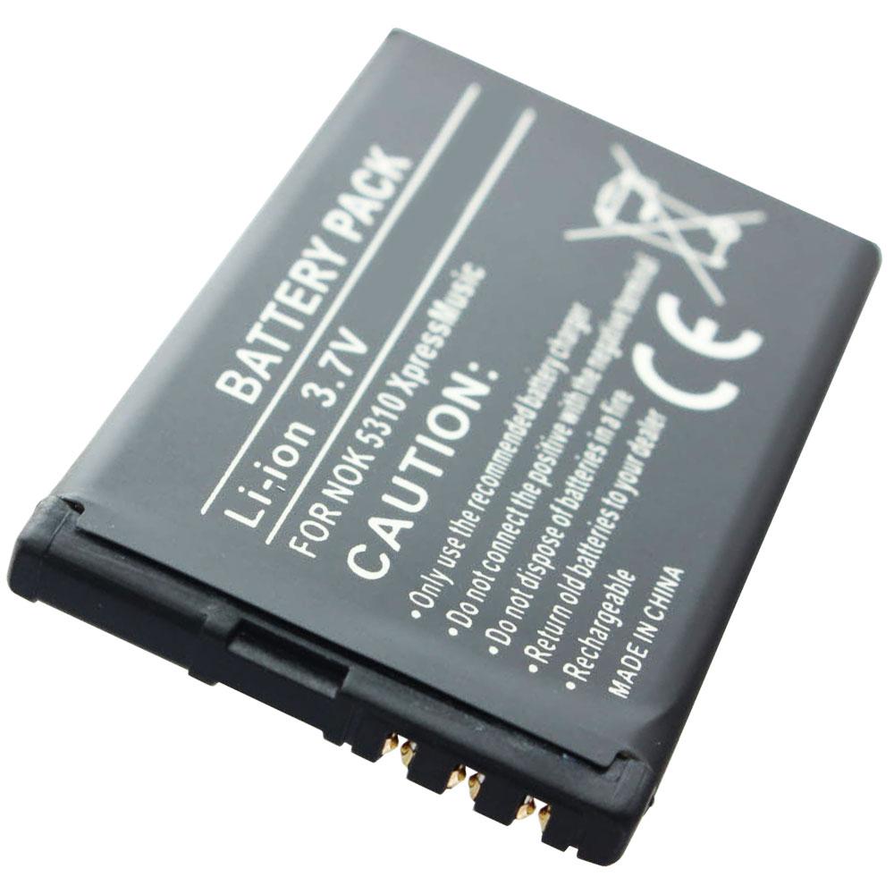 Powerakku für Nokia Typ BL-4C 3,7V 900mAh//3,3Wh Li-Ion Schwarz
