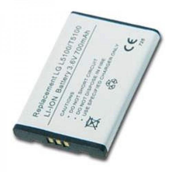AccuCell Akku passend für LG L5100, LG T5100, 900mAh