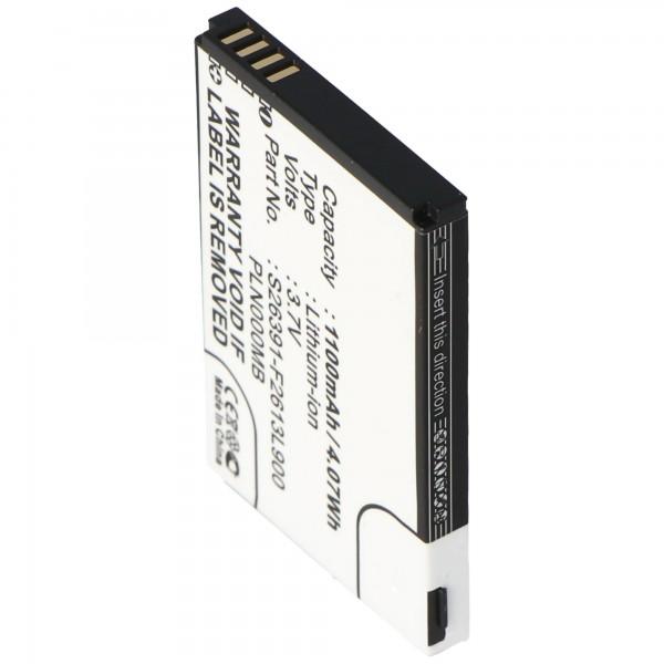 AccuCell Akku passend für Fujitsu-Siemens Loox S26391-F2613-L90 Akku 10600731575, PLN000MB, 35H00061-10M