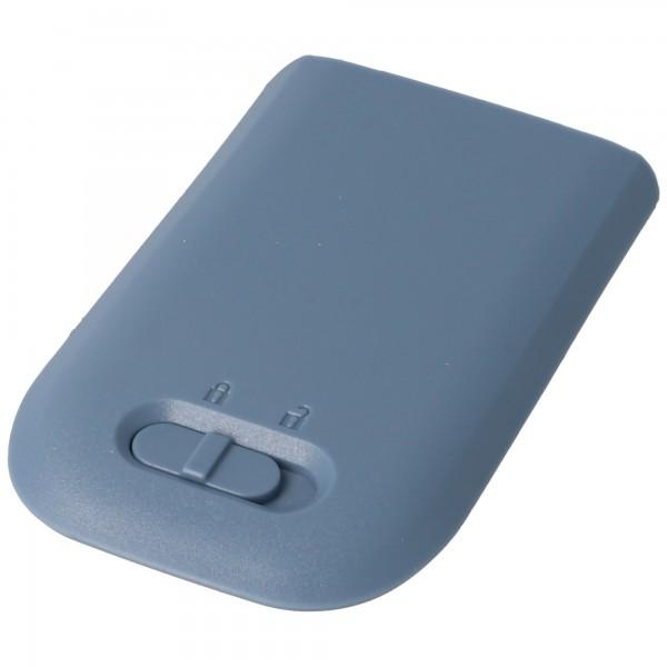 Akku passend für AVAYA 3720 DECT Battery 660190/R1A inklusive Gehäuserückdeckel in blau-grau