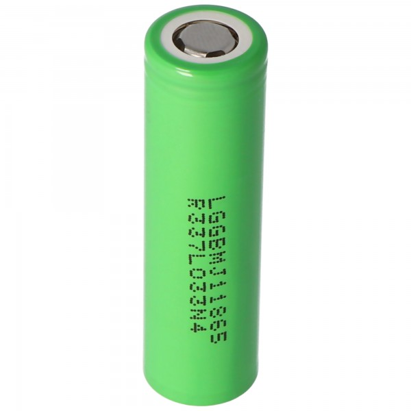 LG INR18650MJ1 3500mAh 3,6V - 3,7V Li-ion Akku Abmessungen 65,1x18,3mm beachten Flattop
