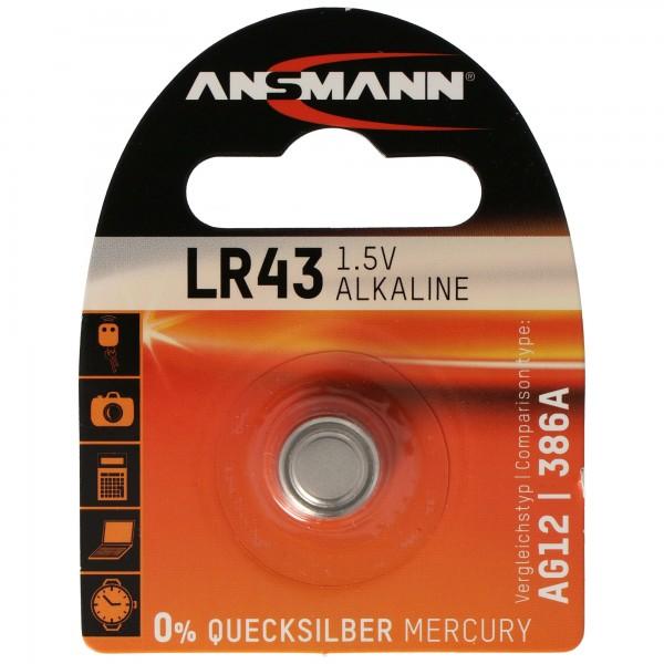 Panasonic LR43-V12GA, 186, 84, LR1142 Knopfzelle Panasonic Alkaline LR43EL/1B