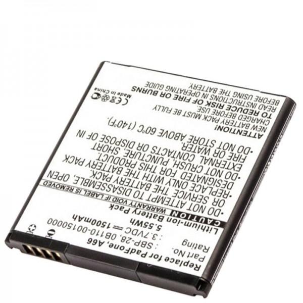 AccuCell Akku passend für Asus PadFone A66, 0B110-00150000, SBP-28