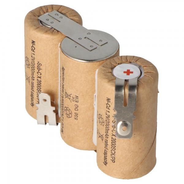 Akku passend für Gardena ACCU 60 mit Faston 6,3 und 4,8mm, 2000mAh