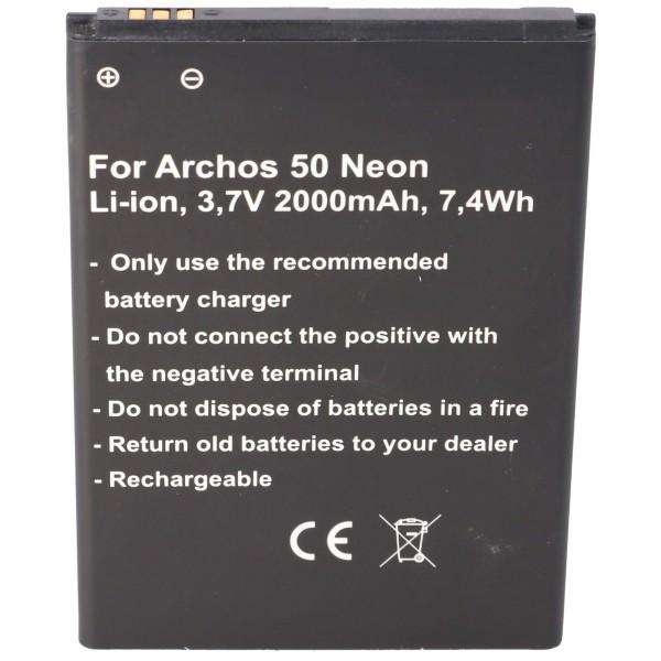 Akku passend für den Archos AC50NE Akku Archos 50 Neon 77,9 x 56,0 x 4,3mm