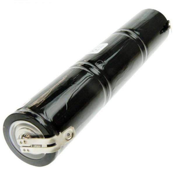 Akku für Notstrombeleuchtung, Notbeleuchtung 3,6 Volt, 4000mAh mit 6,3mm und 4,8mm Kontakt