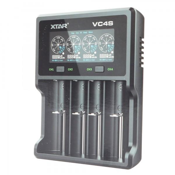 Schnell-Ladegerät passend für 1-4 Stück Li-Ion Akkus Laden, Entladen und Kapazität testen, lädt max. 72mm lange Akkus