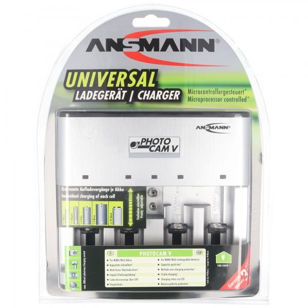 Ansmann Photocam V Universal Ladegerät für 1-4 NiMH 1,2 Volt Akkus