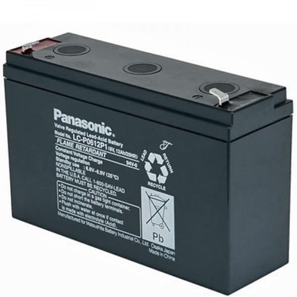 Panasonic LC-R0612P PB Blei Akku 6 Volt, 12 Ah