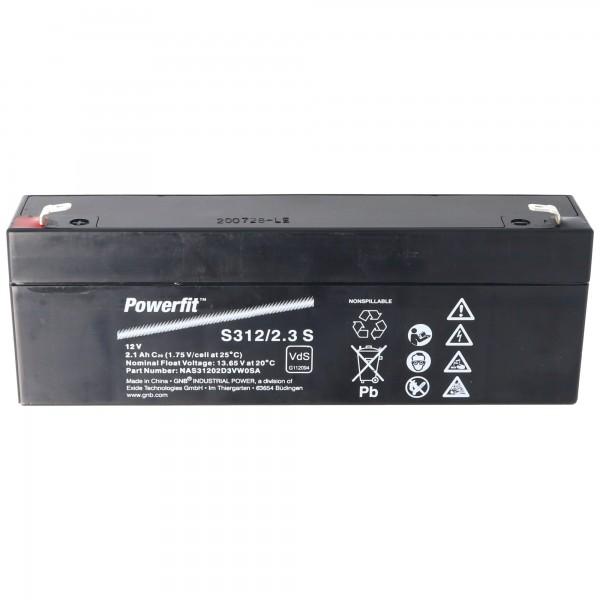 Exide Powerfit S312/2.3S Blei Akku 12 Volt mit 2100mAh