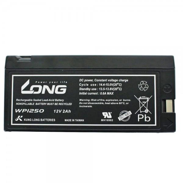 Kung Long WP1250 Blei Akku 12 Volt 2,0Ah mit Snap Kontakt